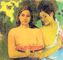 GAUGUIN'İN TABLOSUNA SALDIRDI