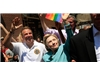 Clinton marches in NY pride parade