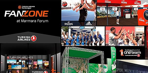 Euroleague Final Four Fan Zone Marmara Forum'da kuruluyor