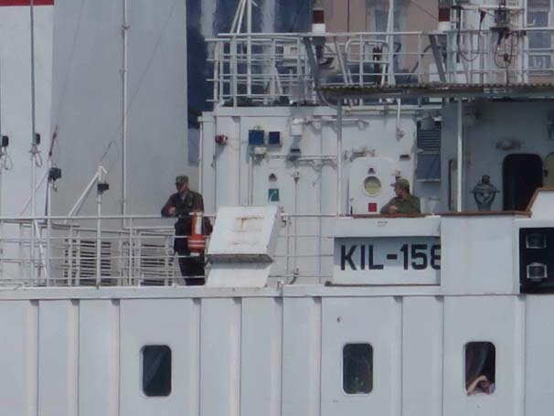 Russian military rescue ship was now pulling the Turkish flag
