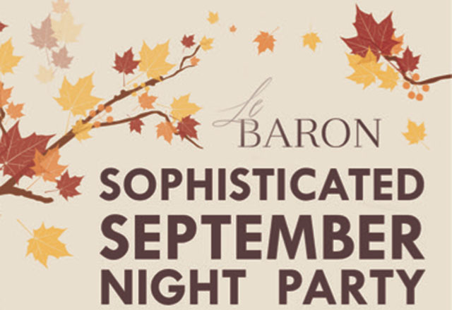 Sophisticated September Party eğlenceseverleri bekliyor